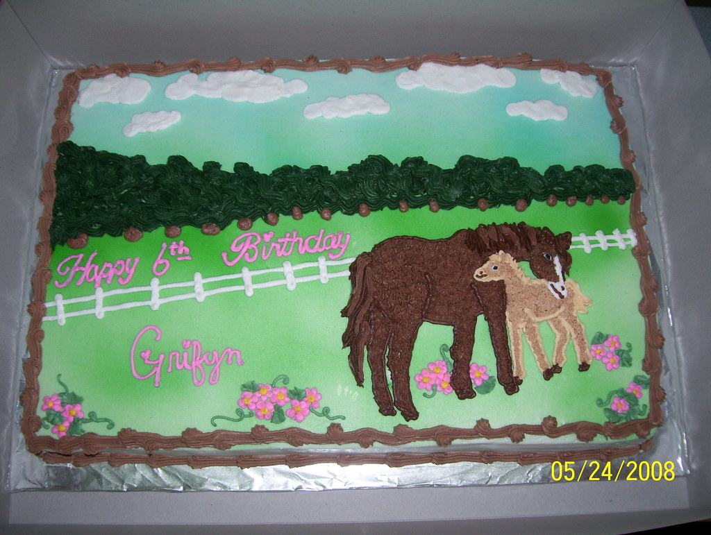 Birthday Cake Design Horse : horse cake I got this design from the plate the lady ...