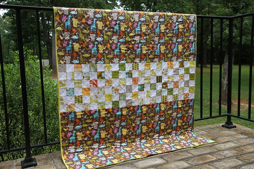 Central Park baby quilt, back | by t. anne quilts