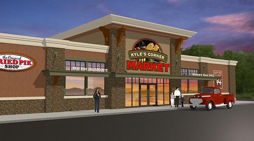 Exterior Market Design Market Upgrade Grocery Store De