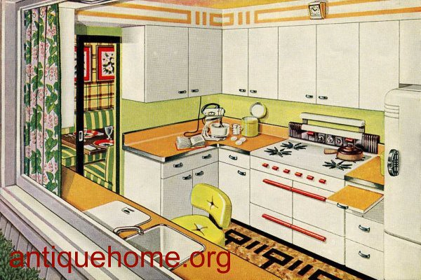 1950 Kitchen Golden Glow Kitchen Design Post WWII Hous – 1950 Kitchen Design