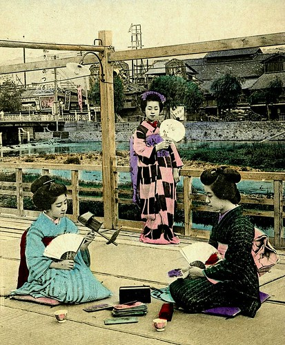3-D, TEA, or ME ?  Two Maiko and a Geisha looking at Stereoviews | by Okinawa Soba (Rob)