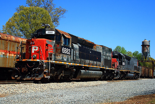 Sd45 2t In N Carolina Leased Former Southern Pacific