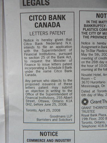 Legal notice citco bank canada i don 39 t usually pay for Citco headquarters