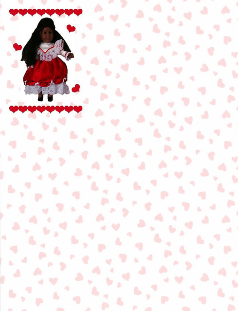 photo regarding Valentine Stationery Free Printable called Black Doll Valentine Stationery For absolutely free printable dimensions, p