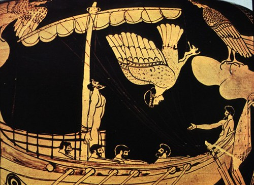Odysseus And The Sirens Attic Red Figure Stamnos Thebes C