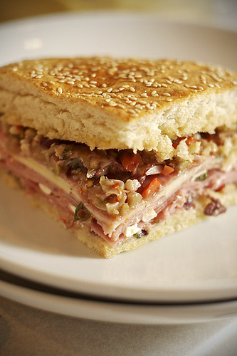 Mardi Gras Muffuletta - Plated and Ready to Eat | by Hankins