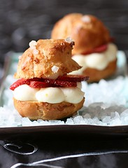 Strawberry Cream Puffs | by tartelette