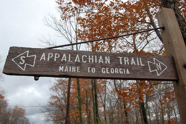 Appalachian Trail Sign | I was on my way to the retreat ...