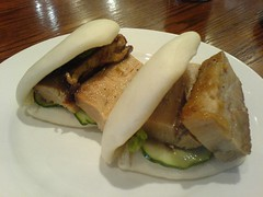 Steamed pork buns with hoisin, scallions and cucumber | by clotilde