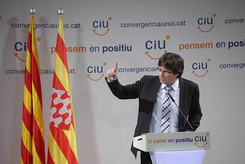 Mas, Duran i Carles Puigdemont a Girona.