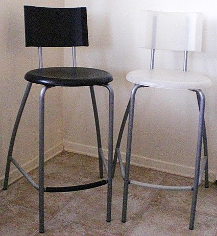Ikea Bar Stools Ikea Anssi Bar Stools Stackable 2 White