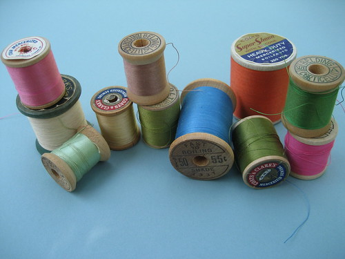 Vintage Wooden Spools of Thread | by Stitch Lab in Austin, Texas