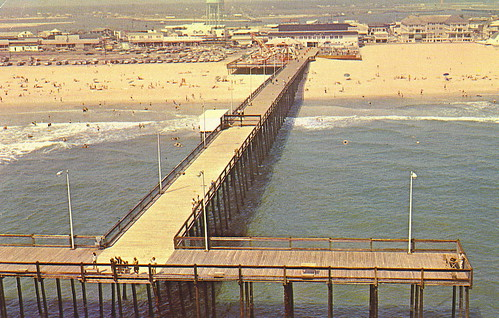 View of ocean city 39 s fishing recreation pier and ballroo for Maryland fishing piers