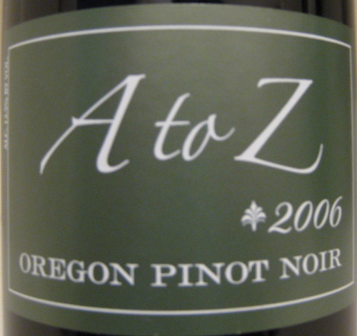 A to Z 2006 Pinot Noir (front) | by 2 Guys Uncorked