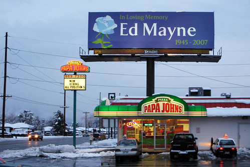 Ed Mayne sign in Kearns | by Paul Mayne