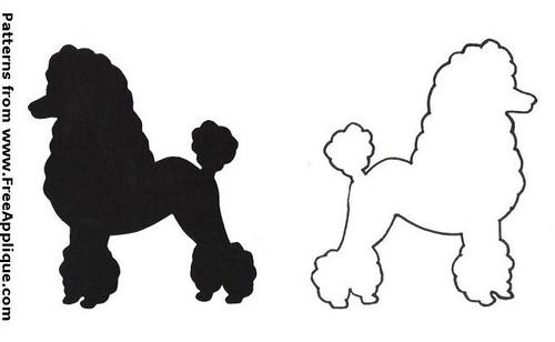 Print poodle applique patterns patterns kid poodle pronofoot35fo Images