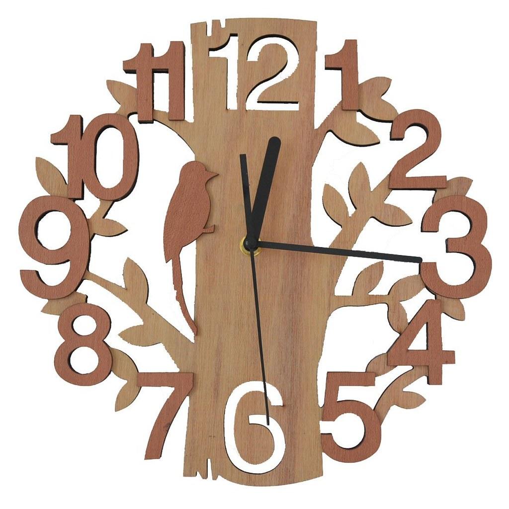 Wooden Wall Clock In Tree Shaped Design Amzn2lfbw7b Favor Li