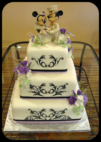 wedding cake bakery mesa az black white and purple wedding black stencil on white 21949