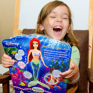 "oh, you betcha she got her ""ariel with batteries""... 