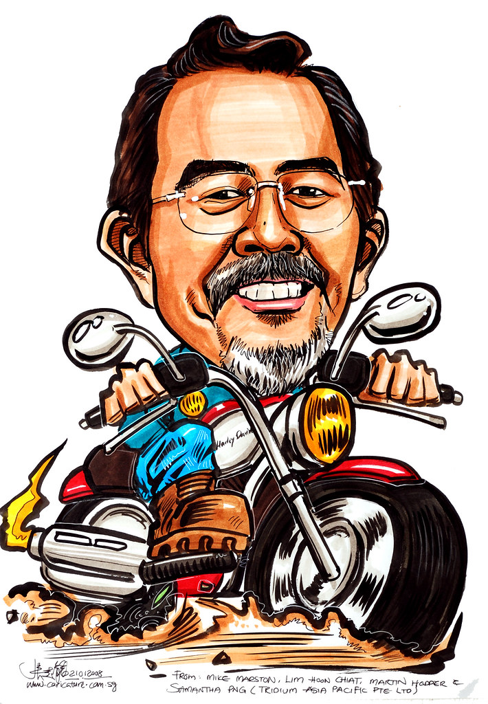 caricature tridium asia pacific harley davidson | www.carica… | flickr
