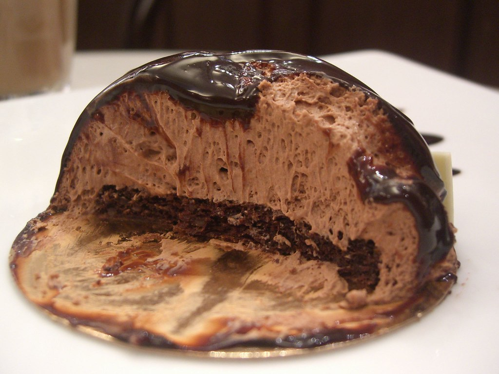 Insides Chocolate Mousse With Sponge And Ganache Icing