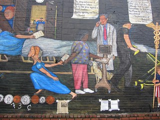 73 Cents Mural - Nurse turned away from the patient | by tedeytan