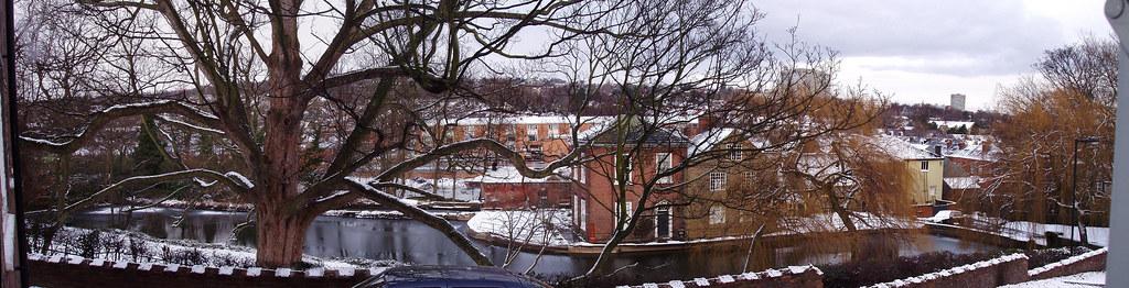 Snuff Mill after a snow fall