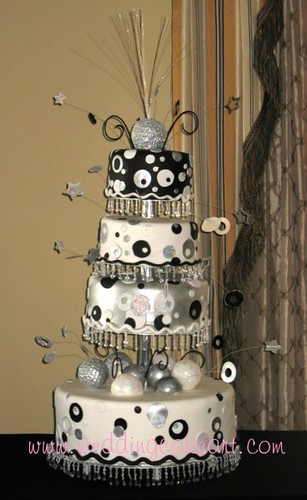 Silver And White Cake Decorations