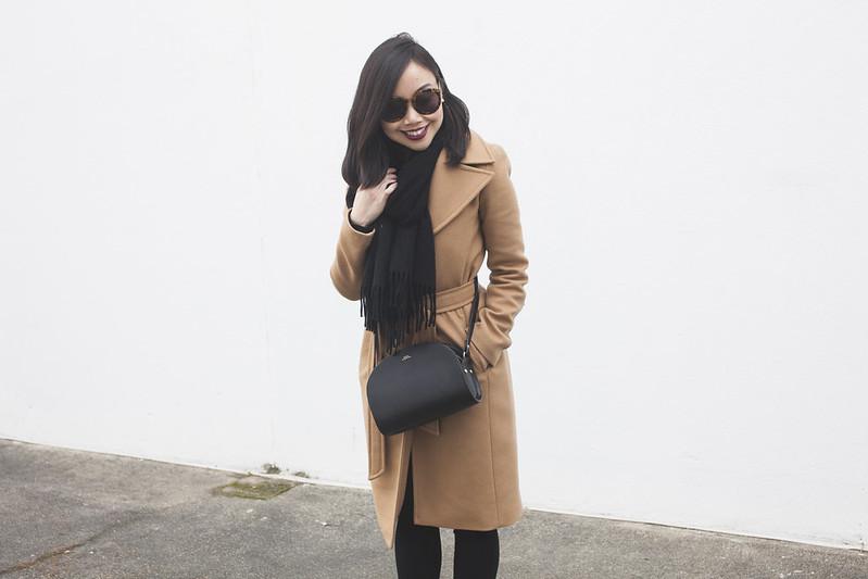 classic camel coat blogger