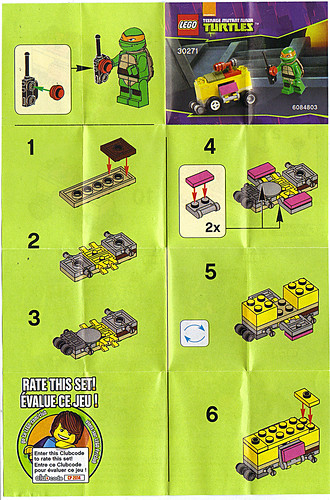 "LEGO TEENAGE MUTANT NINJA TURTLES :: ""Mikey's Mini-Shellraiser"", ..instructions i (( 2014 ))"