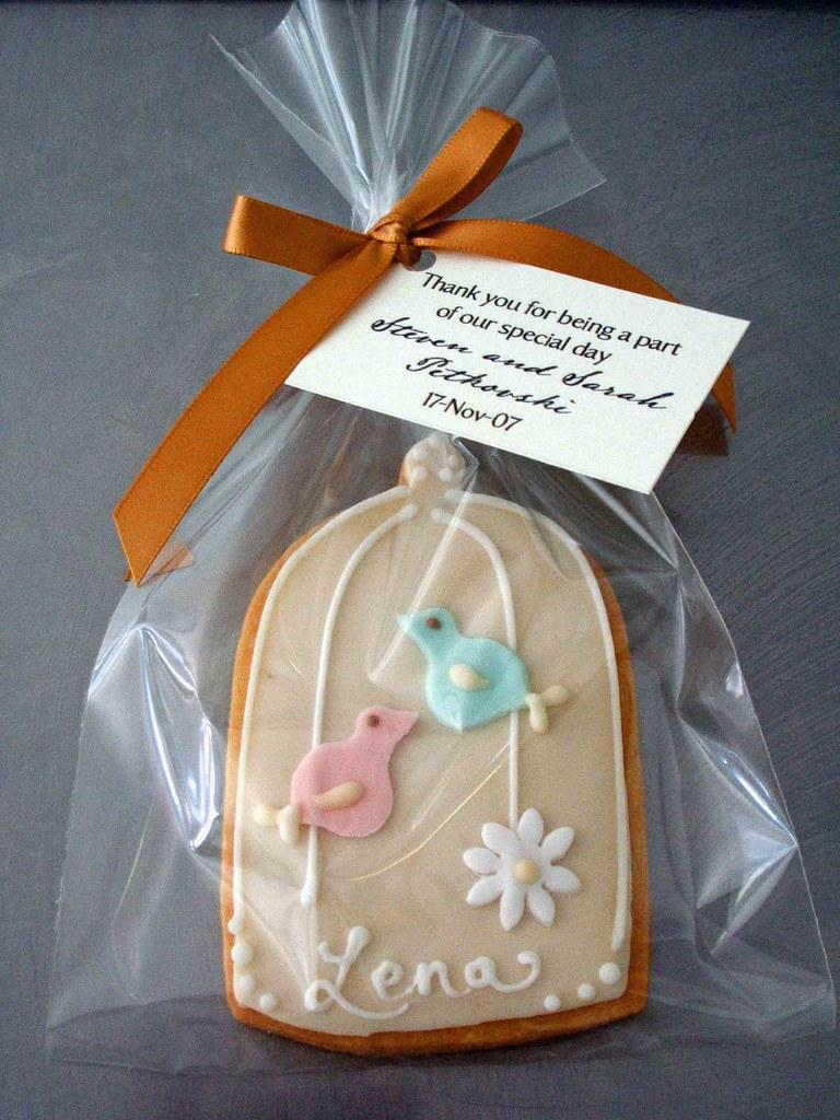 W0009 Lovebird Wedding Theme Cookie Lovebird Cookie Deep Flickr