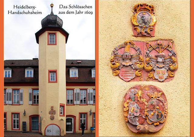 Heidelberg-Handschuhsheim, Februar 2017: die Tiefburg, eine mittelalterliche Wasserburg, Stammsitz der Herren von Handschuhsheim ... historischer Ortskern, Wappen, Friedenskirche, Schlösschen, Füllfederhaltermuseum ... Fotos: Brigitte Stolle, Mannheim