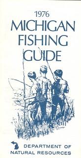 1976 michigan vintage fishing license law digest guide for Michigan fishing license online