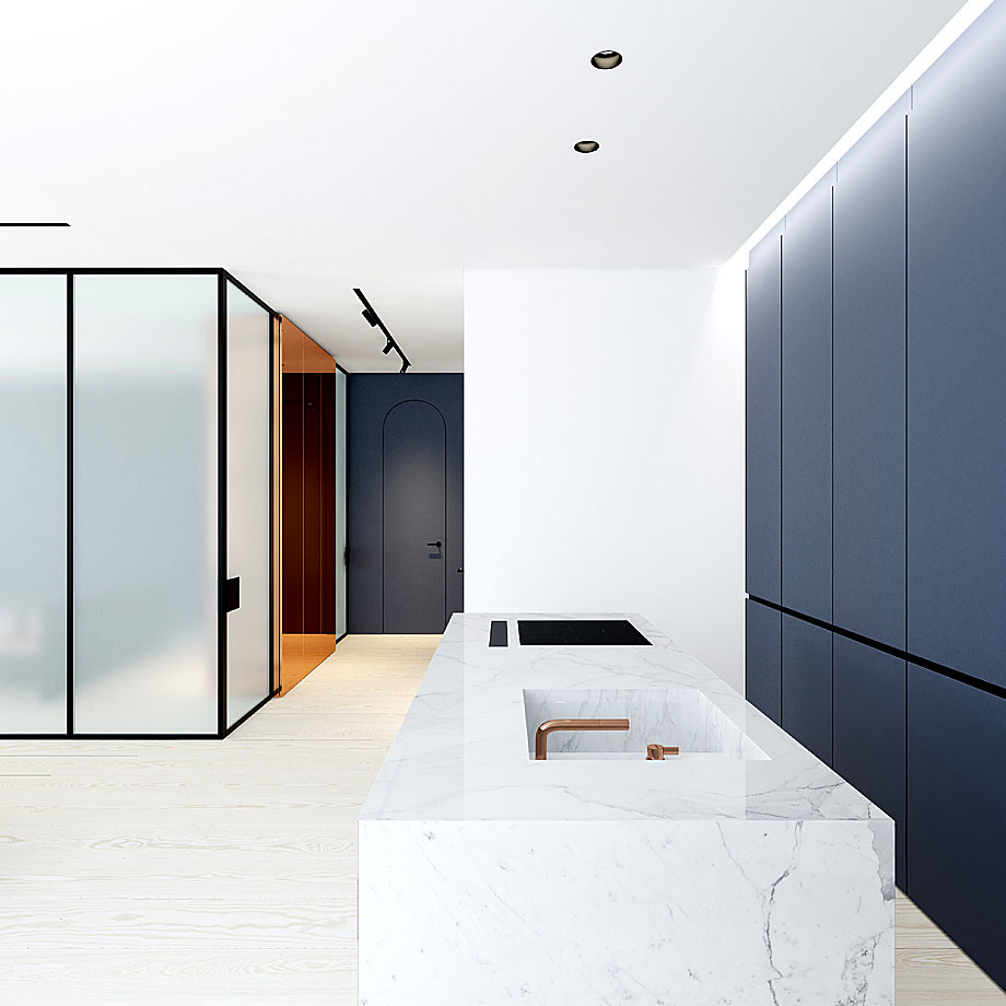 Modern minimalist interior design with skin tones by Emil Dervish Sundeno_06