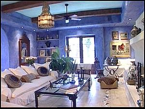 Blue Moroccan Living Rm