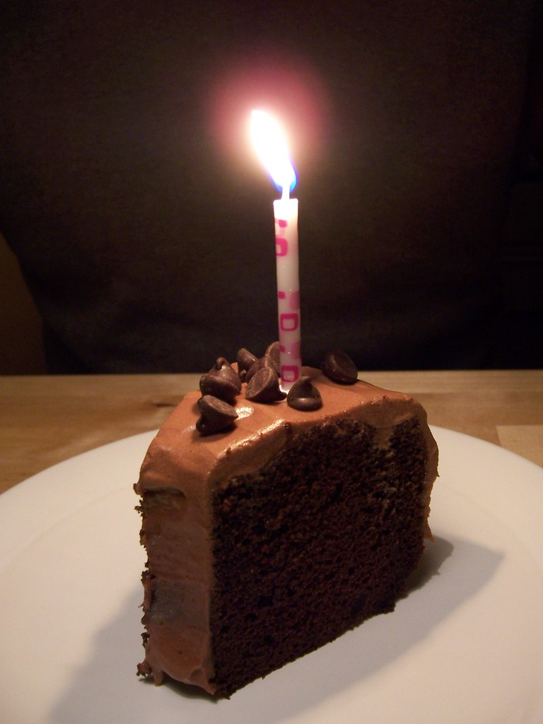 Chocolate Birthday Cake With Candles Images