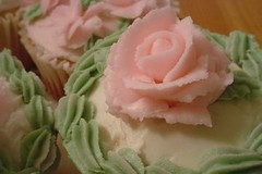 jumbo cupcake with pink rose | by smallindulgences