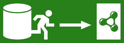 Emergency Exit: Semantic Web (White on Green, Hi-Res) | by semanticwebcompany
