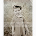 Old fashioned style photo of little boy