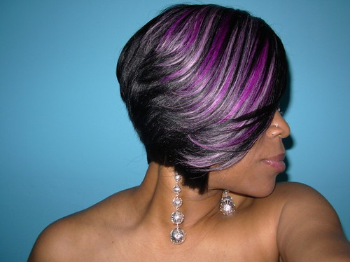 Wig With Purple Highlights