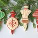 Vintage Ornaments- Fancy Flours