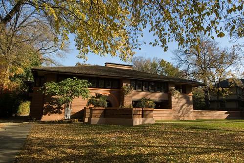 Dscf2837 a prairie house by frank lloyd wright oak park for Frank lloyd wright house piani gratuiti