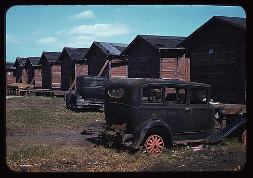 Shacks condemned by Board of Health, formerly (?) occupied by migrant workers and pickers, Belle Glade, Fla.  (LOC) | by The Library of Congress