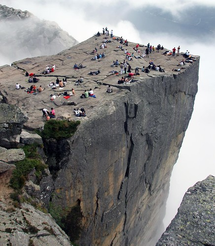Are you afraid of heights? Come to Preikestolen, Norway! | by niels.breve