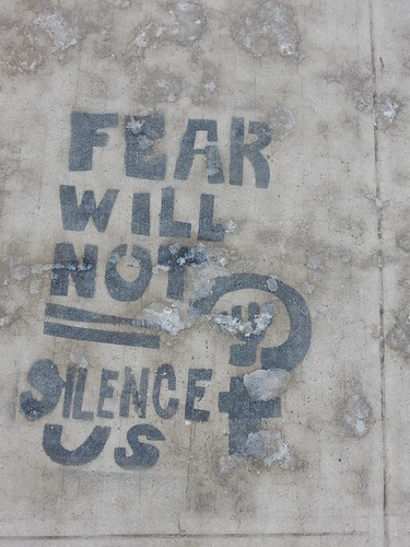 Fear will not silence us | by aestheticsofcrisis