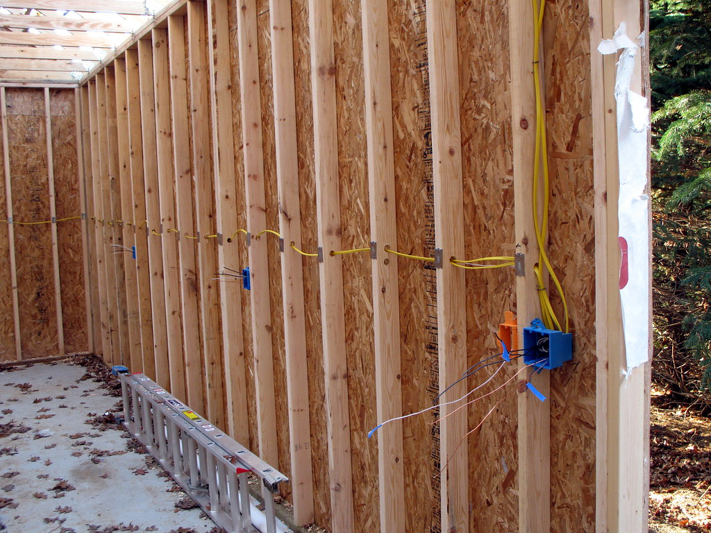 Rough Electrical - Side Wall | Yea! The rough wiring is fina… | Flickr