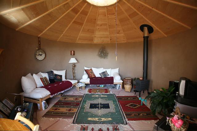 Modular Earthship Living Room