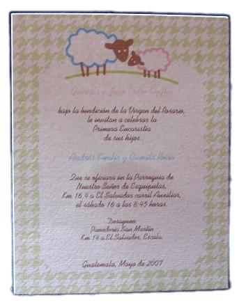 invitaciones de primera comunion en guatemala