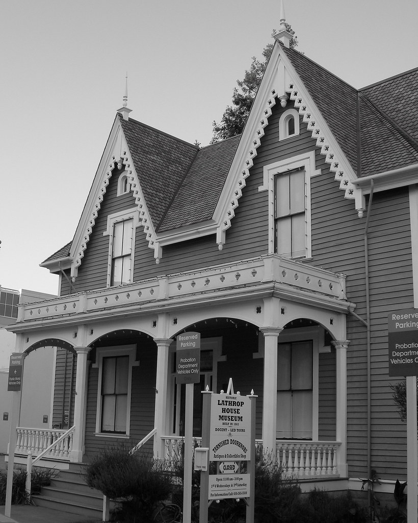 One Of The Oldest Houses Lathrop House Is Located In The