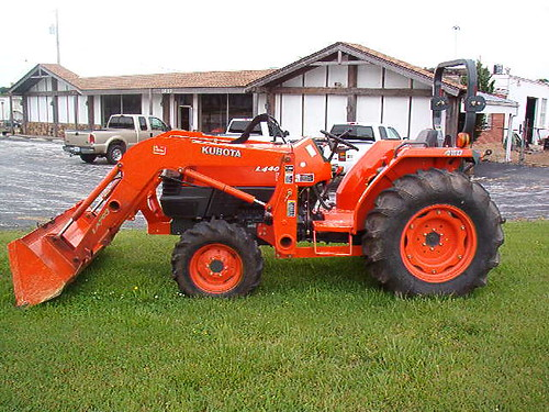 kubota l4400 with loader left side view left side view o flickr. Black Bedroom Furniture Sets. Home Design Ideas